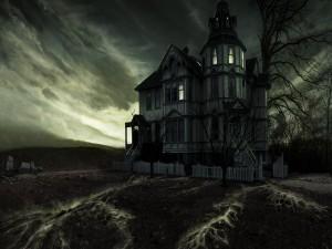 Postal: Casa en la oscuridad