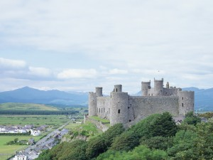 Postal: Vista del castillo en la colina