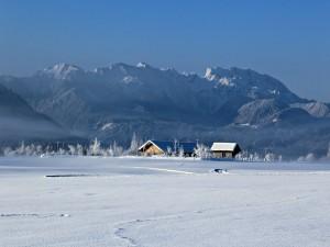 Postal: Casa de campo en invierno