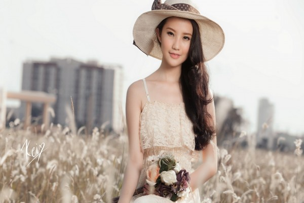 La hermosa modelo Xuan Thao