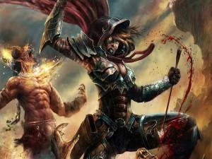 Postal: Luchando contra demonios