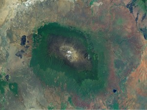 Monte Kilimanjaro, visto desde el espacio