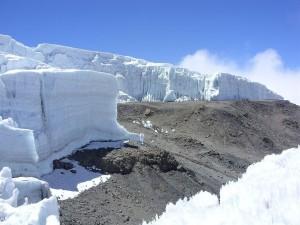 Bloques de hielo en el Monte Kilimanjaro