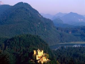 Postal: Castillo de Hohenschwangau, Alemania