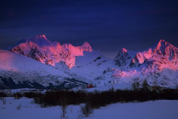 La noche en las montañas