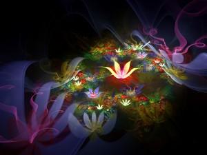 Jardín de flores digital