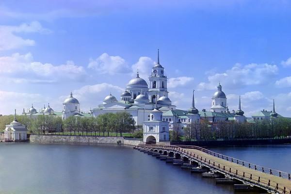Monasterio Nílov, isla Stolobny (Rusia)