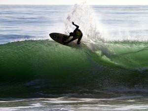 Postal: En la cresta de la ola
