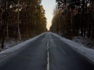 Carretera con señal de tráfico
