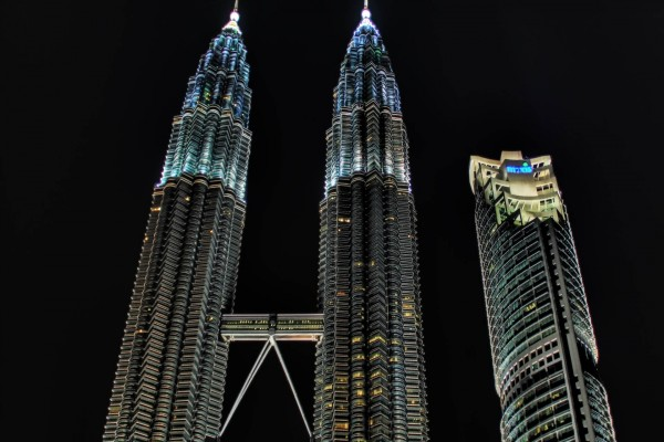 Torres Petronas en la ciudad de Kuala Lumpur