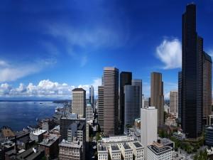 Postal: Vista de una gran ciudad