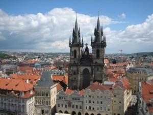 Postal: Vista aérea de Praga