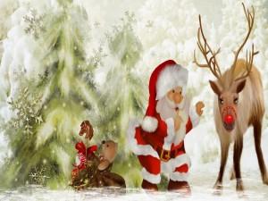 Papá Noel y sus amiguitos