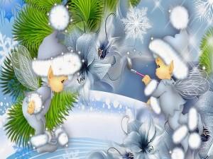 Postal: Los duendes de la Navidad