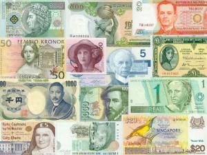 Postal: Billetes del mundo