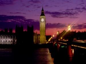 Postal: Londres por la noche