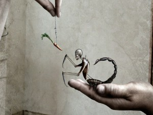 Esqueleto y zanahoria