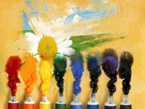 Pinturas de varios colores
