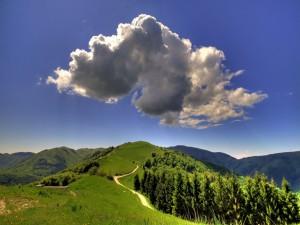 Nubes solitarias