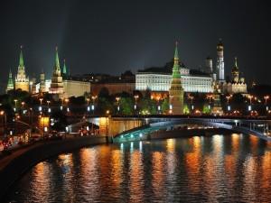 Postal: El río Moscova a su paso por Moscú