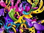 Sandalias de goma abstractas