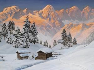 Postal: Paisaje nevado