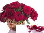 Ramo de rosas y una carta