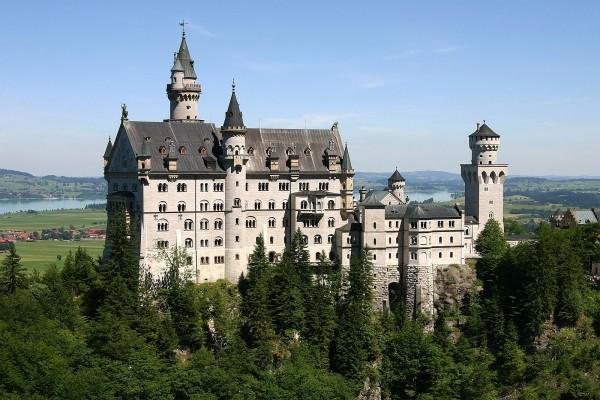 El castillo de Neuschwanstein visto de cerca