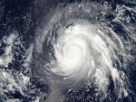 Tifón Higos sobre las Islas Marianas