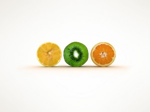 Limón, kiwi y naranja