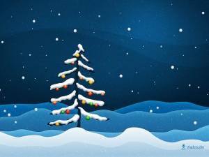 Arbolito de Navidad solitario