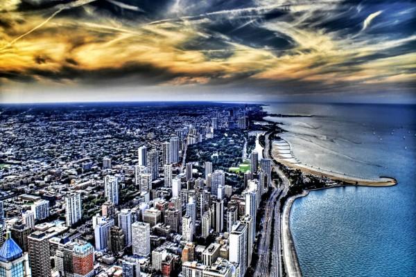 Ciudad con mar