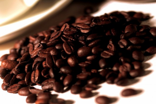 Montaña de granos de café