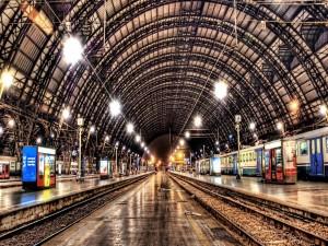 Postal: Gran estación de trenes