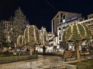 Plaza del Altozano en Navidad, Albacete