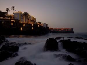 Luces de Navidad en Puerto de la Cruz, Tenerife (España)