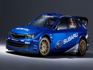 Postal: Coche de rally Subaru Impreza WRC