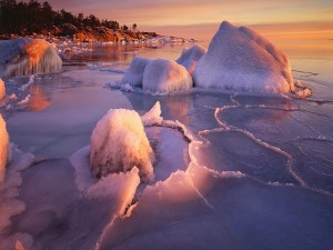 Postal: Paisaje de invierno