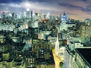 Postal: Noche en la gran ciudad