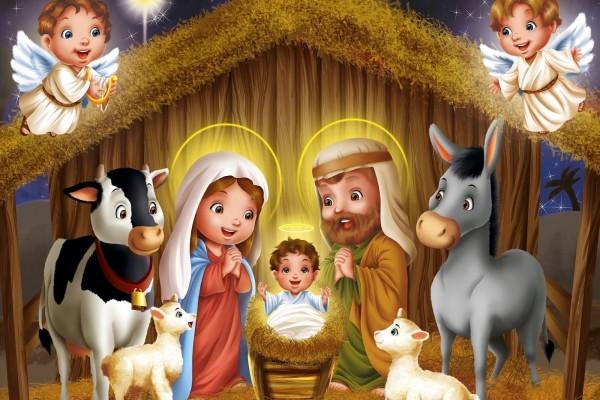Ilustración del nacimiento de Jesús