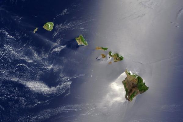 Islas Hawaii desde el espacio