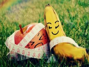 Manzana y plátano