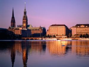 Hamburgo al atardecer
