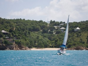 Postal: Navegando en Antigua (Caribe)