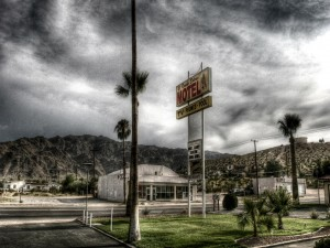 Postal: Motel en la carretera