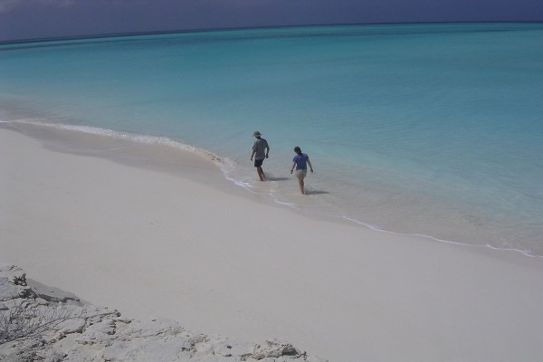 Lee, playa de la costa de Long Island, Las Bahamas