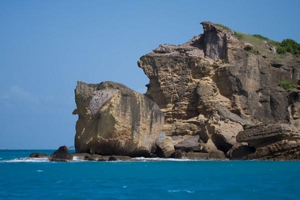 Acantilado rocoso en Antigua