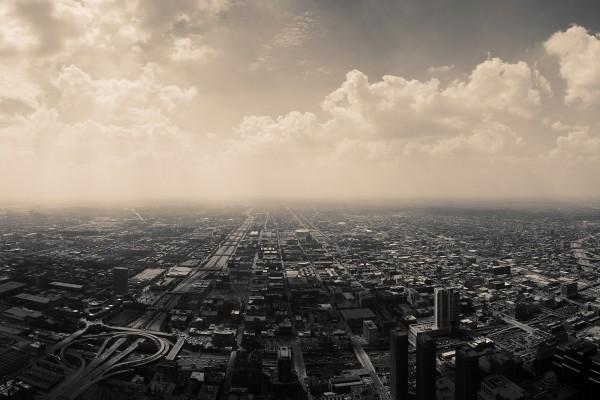 Vista aérea de una gran ciudad
