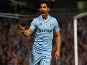 Postal: Sergio Agüero en el Manchester City