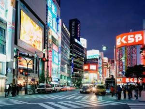 Postal: Una calle en Tokio
